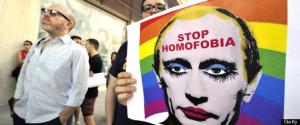 SPAIN-RUSSIA-DEMO-HOMOPHOBIA